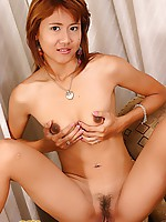 Gik Strips For Dildo Play On Couch