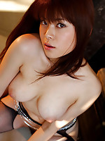 Sensual gravure idol hottie shows off her delicious naked tits