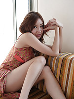Incredible foxy gravure idol babe in a cute short dress