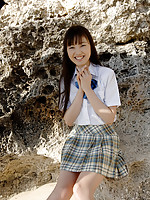 Miyuu Sawai cute Asian schoolgirl in her pleated miniskirt