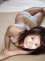 Yuika Hotta lingerie babe in her silk bra and panties