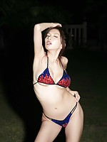 Gravure idol Ai showing off her delicious curves in a bikini