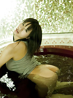 Hana Haruna gets naked for these pictures in the bath