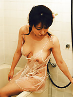 Sakura Shiratori naughty Asian girl getting naked for the camera