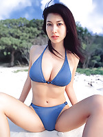Seductive and beautiful asian goddess showing off her hot body