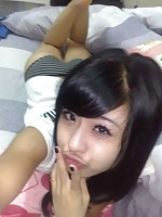 Hot Chinese girlfriend with real pretty eyes
