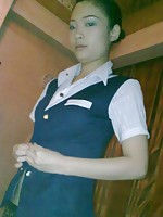 Rumoured to be a Chinese Airlines stewardess