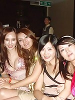 Chinese amateur girls out partying in clubs