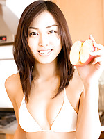 Steamy gravure idol can barely contain her tits in her lingerie