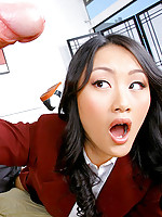 Super hot fucking christina agaguchi gets her asian mouth and pussy fucked hard after class in her plaid mini skirt