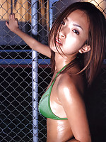 Asian idol bewitches with her bikini and sultry tanned skin
