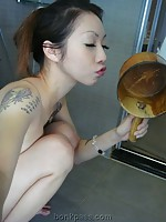 Very hot sexy Japanese girl with tattoo