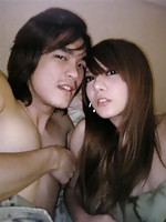 Sexy and good looking Asian couple