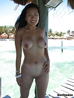 Sexy boobs outdoor