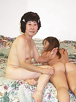 Japanese mother and daughter loves getting naked together
