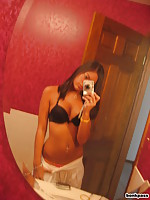 Super hot looking Asian girl self shot pics