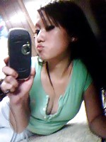 Thai girl making sexy face with her poutty lips