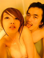 Hot looking Asian girl with his handsome boyfriend
