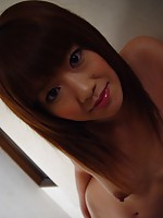 Japanese teen girl plays with a big and sticky semen load