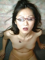 Nude Asian in Glasses