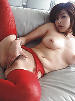 Nude Asian Masturbating