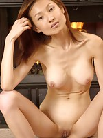 Japanese chicks takes off panties and stays totally nude and sexy