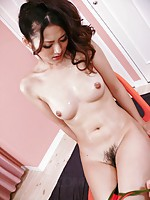 Fine slim Risa gets all wet during fingering and toy play