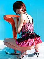 Cute and joyful Miriya Hazuki gets her wet pink invaded