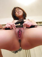 Gorgeous Miina Minamoto in fancy lingerie gets a full creampie