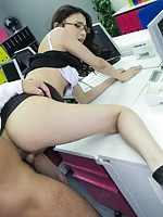 Office sex for Ibuki ends with raw and deep anal pounding