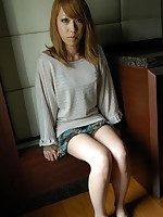Japanese teen shows off perky body and begs for cock