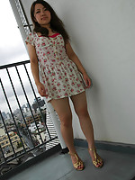 Sweet Japanese teen showers and takes cock