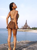Asian solo model Tailynn posing in exotic Thailand