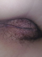 Shy Asian showing off her hairy pussy