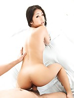 Fresh faced Satomi Suzuki looks gorgeous on her back fucked