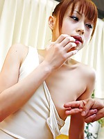Miina Yoshihara has her mouth and pussy destroyed by meat