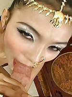 Super petite Thai slut Eaw in authentic dress gets fucked