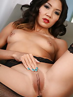 Naughty Keeani performs a hot provocative striptease in a medical practice