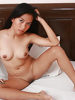 Shy little Mia needed cash and agreed to spread her legs to flash her hairless pussy