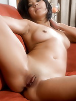 Hot Lin is showing off the most private parts of her superb body