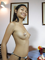 Cream covered pussy on Thai Nid
