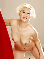 Blond Asian babe Vanity totally nude