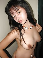 Filipina amateur flashing her big boobs and her hairy twat