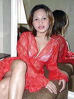Filipina bargirl stripping and spreading to show her asset