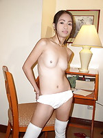 Cute broad with a body to die for stripping naked from her school uniform