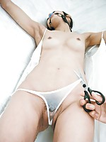 Chika Ishihara Asian is tied and teased with vibrator over thong