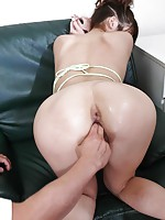 Kinky Arisa Aoyama has her perfect ass toyed by a hand