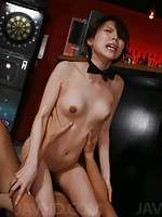 Rino Asuka Asian in office outfit sucks and rides fellow stiffy