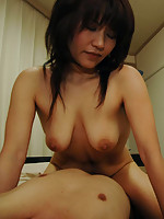 Japanese MILF teases her pussy and gets fucked