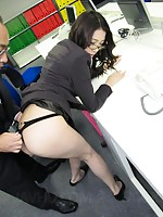 Leggy secretary Ibuki groped and assfucked in the office
